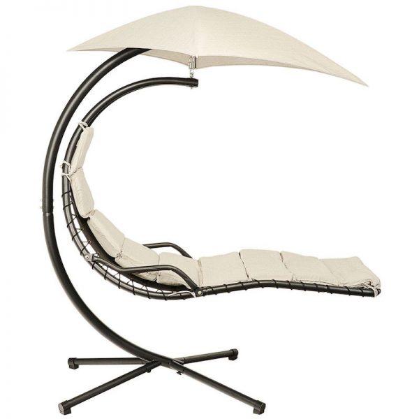 leagan balansoar negru alb cu umbrela rezistent mobila gradina