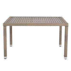 masa gradina maro fibre sintetice blat de lemn mobila gradina ieftina