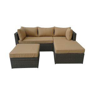 mobila gradina canapea forma L masuta set mobilier gradina perne