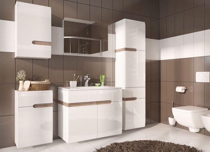 Mobilier pentru baie set modern baie cu lavoar dulap oglinda