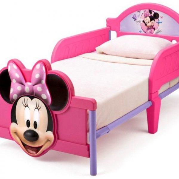 pat cu minnie mouse disney pentru copii roz
