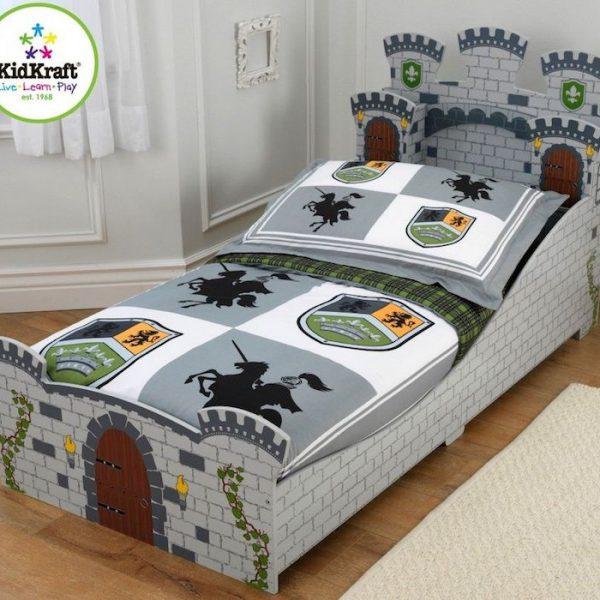 pat pentru copii model castel mobilier camera copii