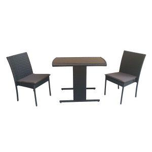 set mobilier gradina maro mobila gradina terasa ratan scaun masa perne