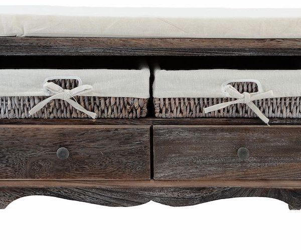 sifonier lada cu perna pentru sezut 4 sertare lemn nuc