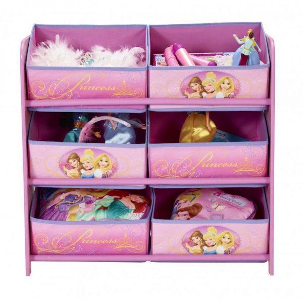 suport pentru depozitare jucarii copii roz 6 sertare disney princess