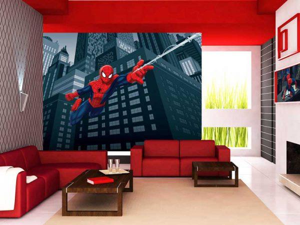 tapet cu spiderman fototapet spiderman ieftin pentru camera copii