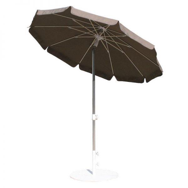 umbrela rotunda gri 2m mobilier gradina umbrele moderne