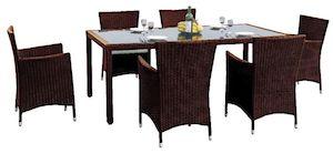 Set mobilier gradina maro scaune si masa CAPITALE