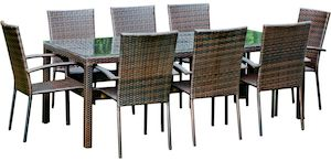 Set mobilier gradina ratan scaune si masa