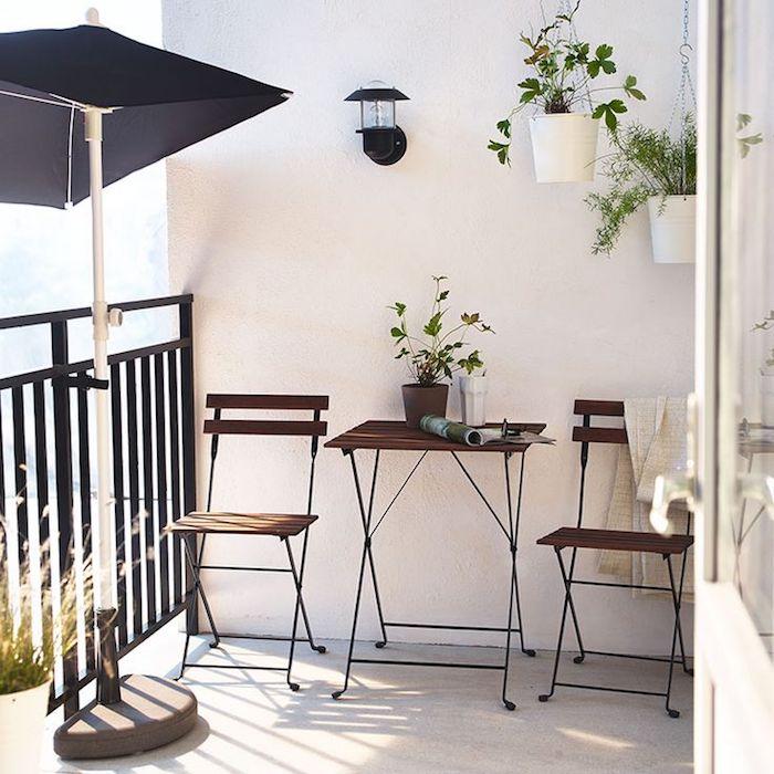 amenajare balcon idei mobilier pentru balcon masa cu doua scaune