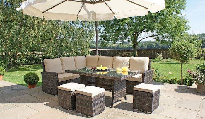 mobilier ieftin pentru gradina set mobilier rattan amenajare gradina idei