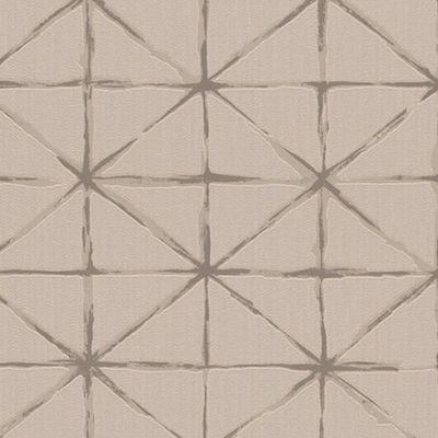 Tapet figuri geometrice in nuante de bej
