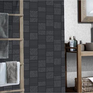 Tapet cu modele geometrice in nuante de negru si gri