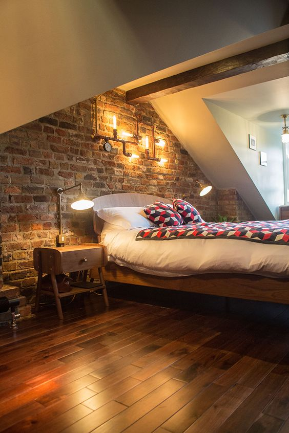 amenajare dormitor in mansarda idei