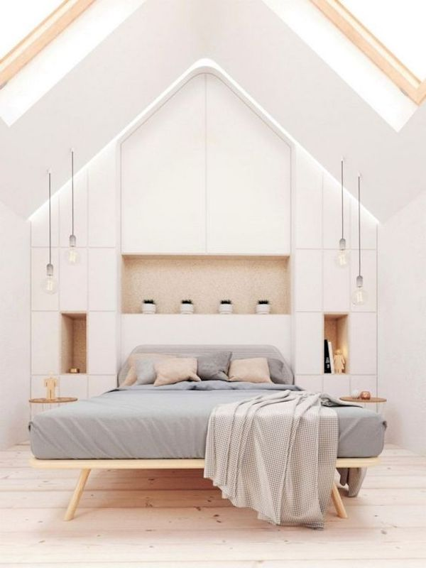 amenajare-dormitor-mansarda-modern-alb