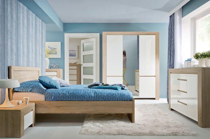 amenajare dormitor modern set dormitor pat dulap noptiera moderne