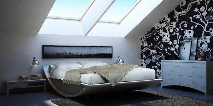 amenajari mansarde poze dormitor mic mansarda
