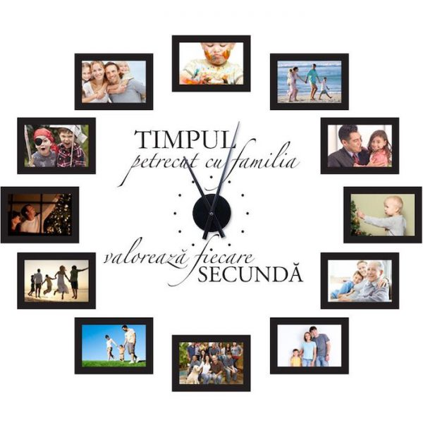 ceas de perete tablouri familie sticker ceas ieftin