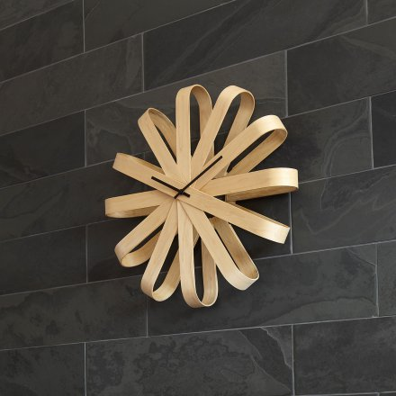 ceas modern de perete din lemn ceas decorativ pentru perete umbra_ribbon