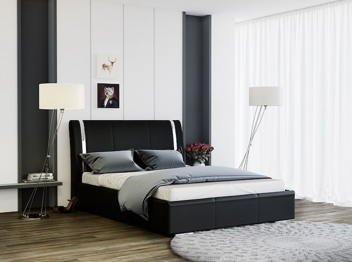 idee amenajare dormitor modern pat dormitor negru modern