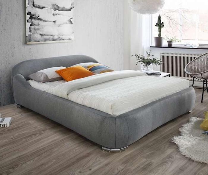 pat dormitor gri idei amenajare pat in dormitor