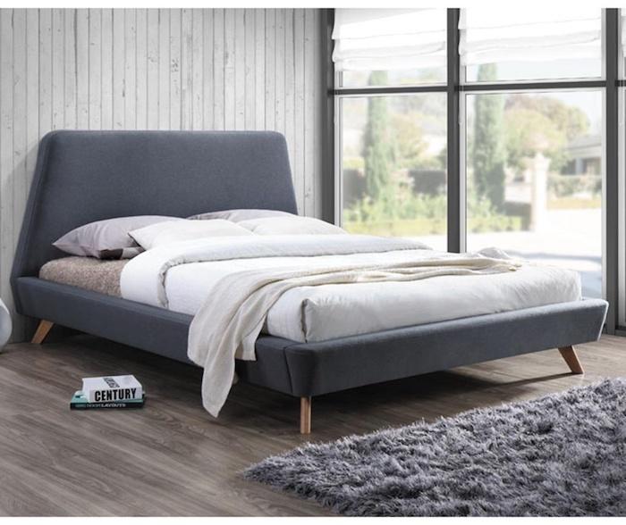 pat pentru dormitor gri 2 persoane pat dormitor ieftin