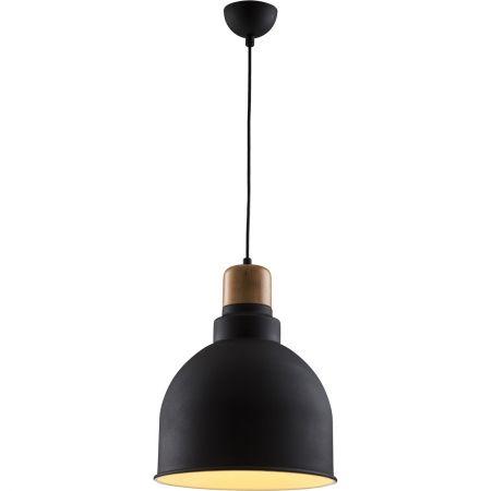 pendul negru din metal lemn modern lustra neagra ieftina
