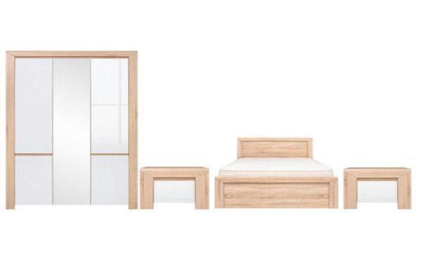 set dormitor lemn pat dulap comoda ieftin