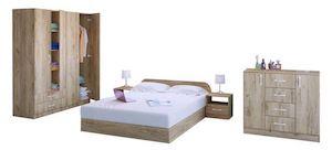 Set Mobilier Dormitor, Modern, 6 Piese, Stejar gran