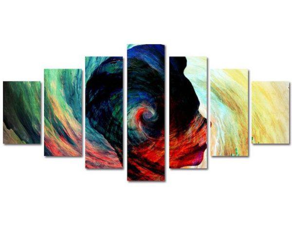 tablou multicanvas 7 piese abstract decorativ 100x210cm