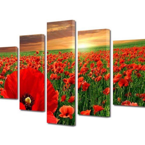 tablou peisaj modern 5 piese 70x125cm