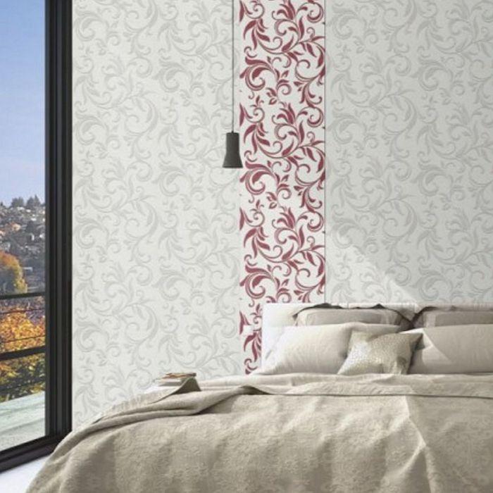 tapet cu flori in dormitor modern amenajare dormitor