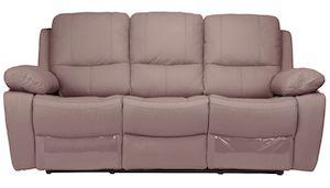 Canapea Kring Royal, 2 reclinere si 3 trepte de confort, piele naturala, Maro deschis