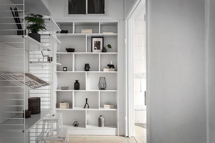 amenajare camara apartament dulapuri Amenajare apartament mic de 46 m2 in accente gri