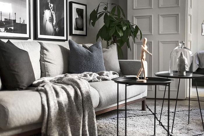 amenajare living mic Amenajare apartament mic de 46 m2 in accente gri