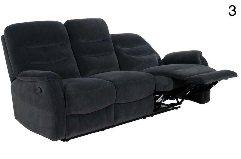 canapea cu recliner gri moderna pentru living