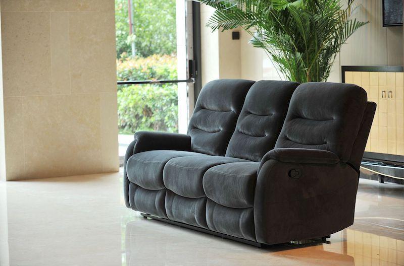 canapea cu sistem recliner gri canapea moderna ieftina