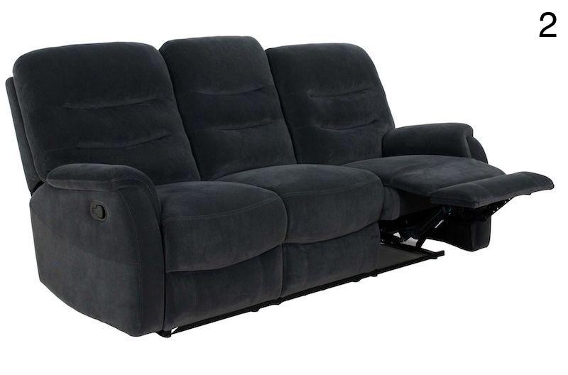 canapele recliner electric moderna gri canapea