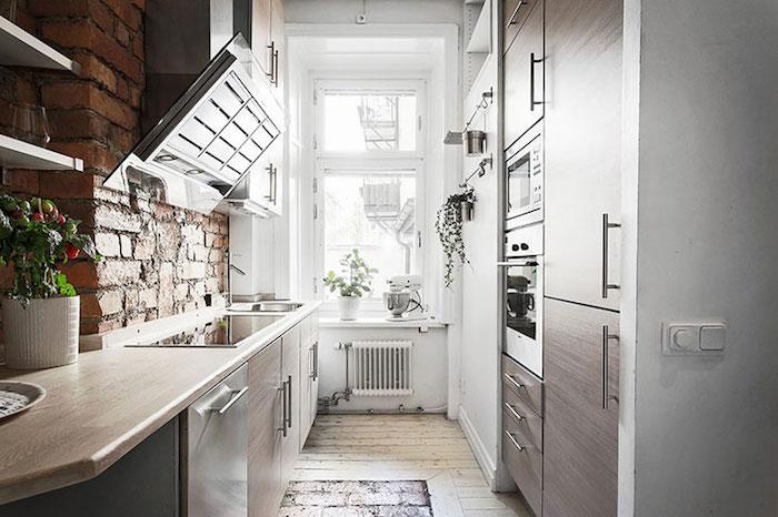 idei bucatarie mica in apartament Amenajare apartament mic de 46 m2 in accente gri