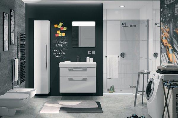 mobilier baie modern alb ieftin set mobilier baie