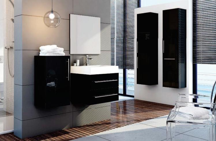 mobilier baie modern negru set mobilier baie ieftin amenajare baie