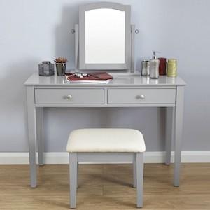 SEG107 - Set Masa Gri toaleta cosmetica machiaj oglinda