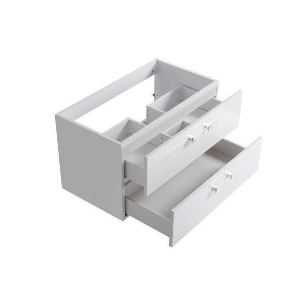 Masca Lavoar baie cu doua sertare plus un Lavoar Adel de 60 cm mobilier baie alb ieftin
