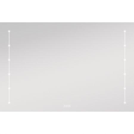 Oglinda cu iluminare LED si Ceas, Design Modern 90x60x20 cm