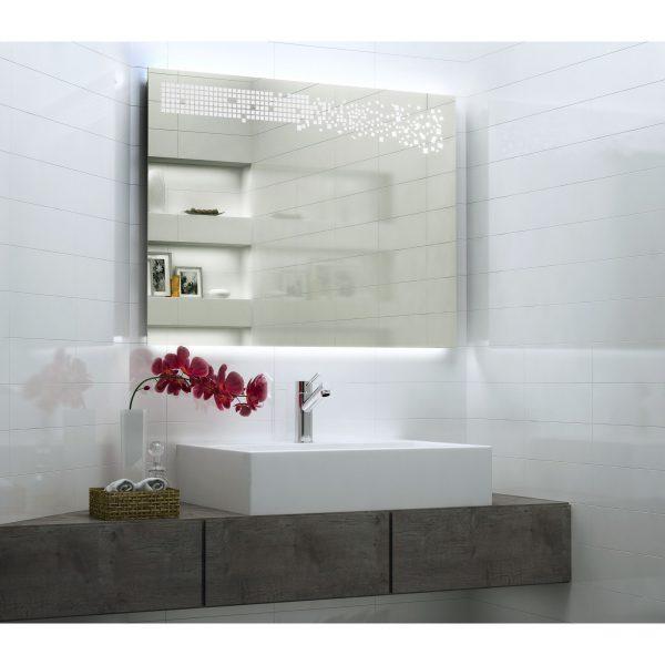 Oglinda pentru baie 100x70 cu iluminare LED interioara HELLEN DESIGN mobilier baie oglinda moderna
