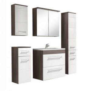Set mobilier baie, 5 Dulapuri + lavoar 60cm, Design Modern, Cosmo II set mobila baie modern
