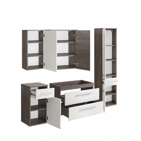 Set mobilier baie, 5 Dulapuri + lavoar 60cm, Design Modern, Cosmo II set mobilier baie ieftin