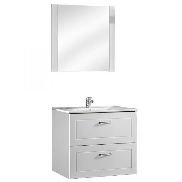 Set mobilier baie, Masca lavoar + lavoar 60cm, Oglinda, Design Modern, Sophia 2