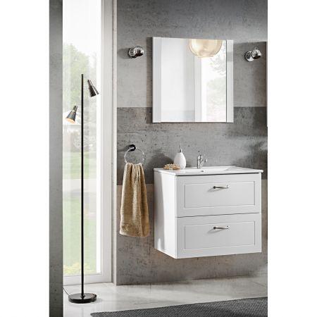 Set mobilier baie, Masca lavoar + lavoar 60cm, Oglinda, Design Modern, mobilier baie complet