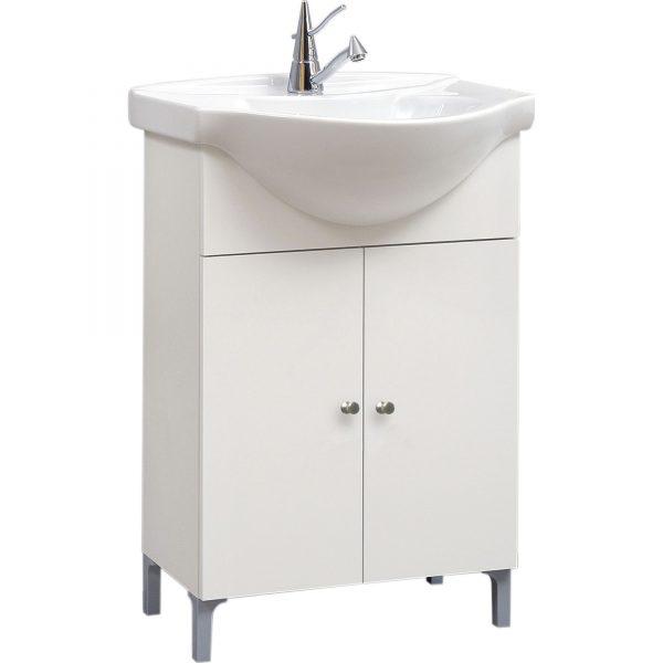 mobila baie lavoar cu doua usi si lavoar ceramic 49x86x40cm